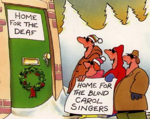 Home for the deaf | Home for the blind carol singers